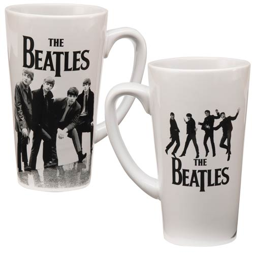 Beatles Black and White 14 oz. Ceramic Latte Mug