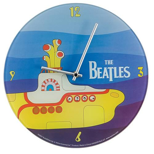 The Beatles Yellow Submarine Glass Wall Clock