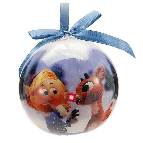 Rudolph the Red-Nosed Reindeer Light-Up Ball Ornament