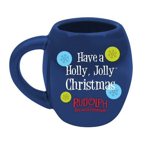 Rudolph the Red-Nosed Reindeer Holly Jolly 18 oz. Oval Mug