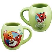 Rudolph the Red-Nosed Reindeer Ceramic Oval Mug