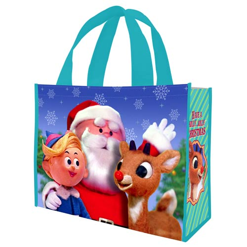 Rudolph Have a Holly Jolly Christmas Large Shopper Tote