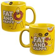 Simpsons Homer Simpson Fat and Happy Ceramic Mug