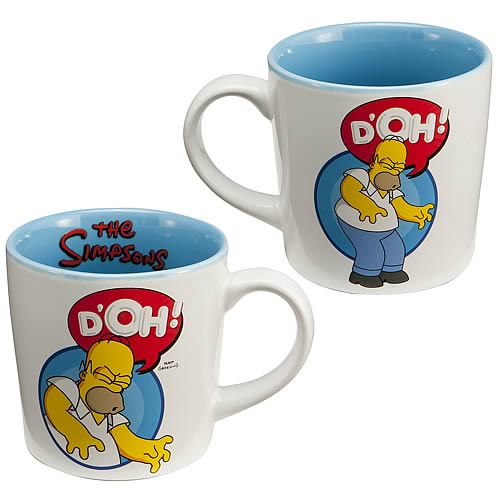 Simpsons Homer Simpson D'oh! Ceramic Mug