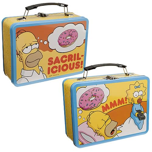 Simpsons Homer Simpson Sacrilicious Large Tin Tote