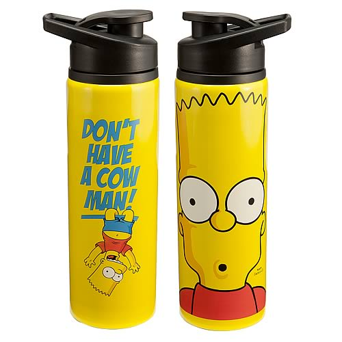 Simpsons Bart Simpson Don't Have a Cow Man! Water Bottle