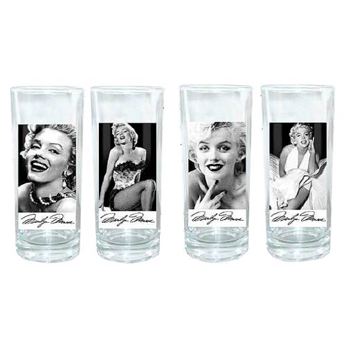 Marilyn Monroe 10 oz. Glass 4-Pack