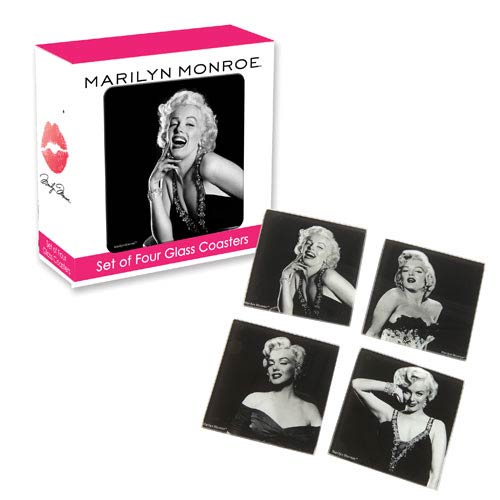 Marilyn Monroe Glass Coaster Set 4-Pack