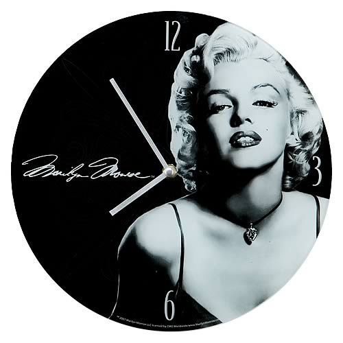 Marilyn Monroe Glass Wall Clock