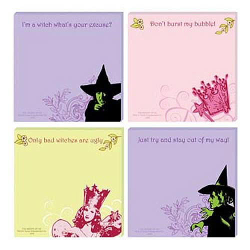 Wizard of Oz Sticky Notes 4-Pack