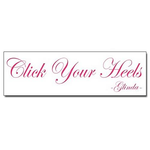 Wizard of Oz Click Your Heels Wall Decal