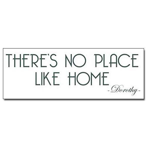 Wizard of Oz No Place Like Home Wall Decal