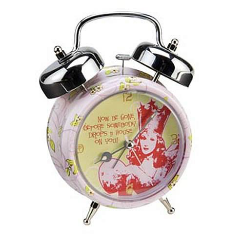 Wizard of Oz Glinda Now Be Gone Twin Bell Alarm Clock