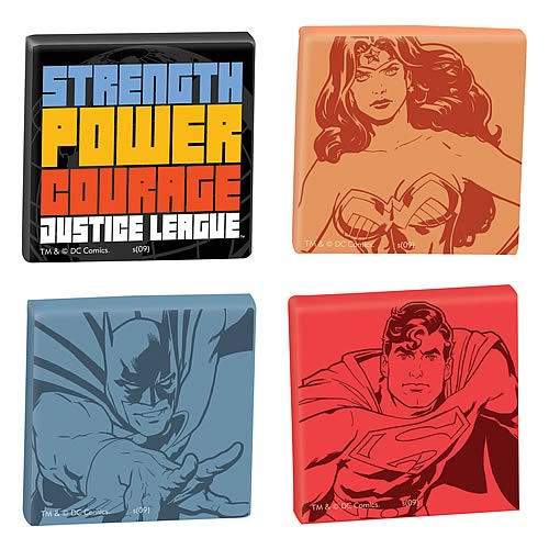 Justice League Magnet 4-Pack