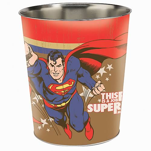 Superman Force of Good Trash Container