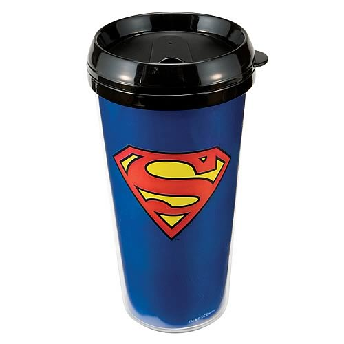 Superman Logo Plastic Travel Mug