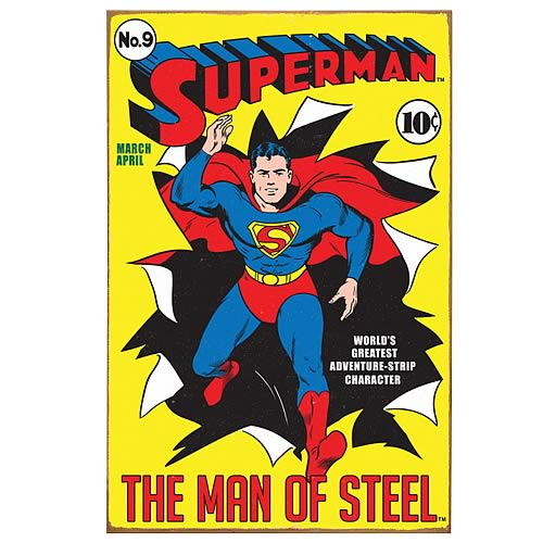Superman Comic Book Cover Heavy Gauge Metal Sign