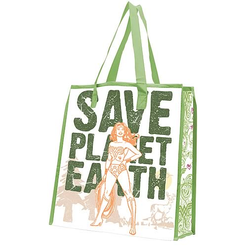 Wonder Woman Save Planet Earth Reusable Shopping Tote