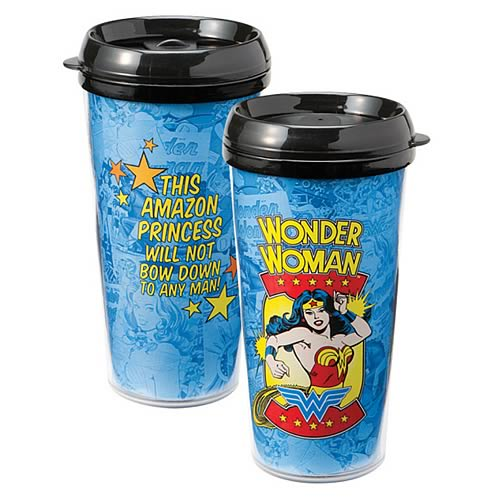 Wonder Woman Amazon Princess Plastic Travel Mug