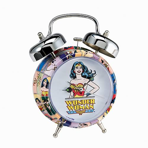 Wonder Woman Twin Bell Alarm Clock