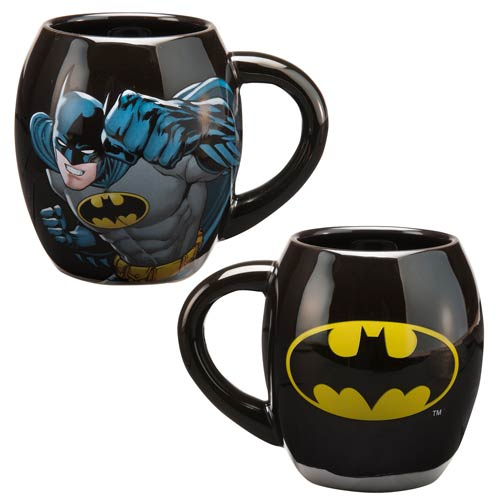 Batman Shield Logo 18 oz. Ceramic Oval Mug