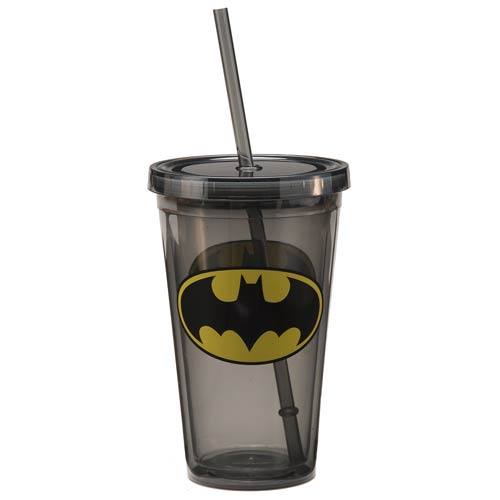 Batman Shield Logo 18 oz. Acrylic Travel Cup
