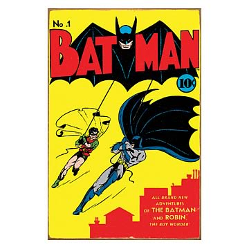 Batman Comic Book Cover Heavy Gauge Metal Sign