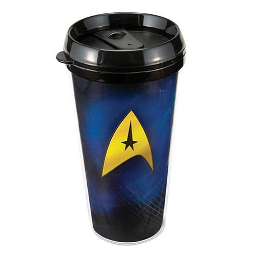 Star Trek Delta Shield Plastic Travel Mug