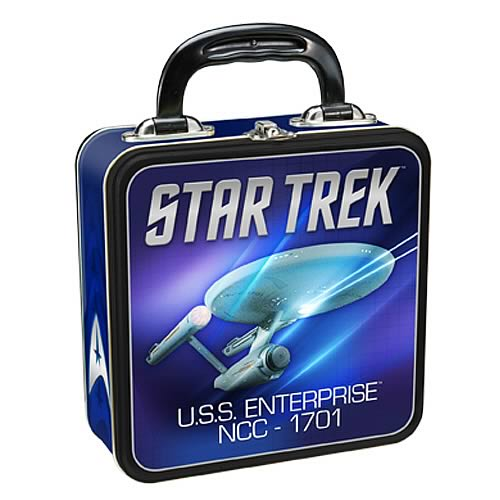 Star Trek USS Enterprise Square Tin Tote