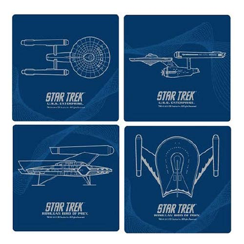 Star Trek Glass Coasters 4-Pack