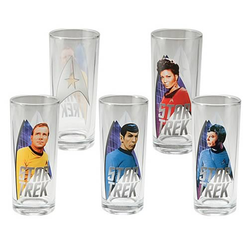 Star Trek Original Series Glasses 4-Pack