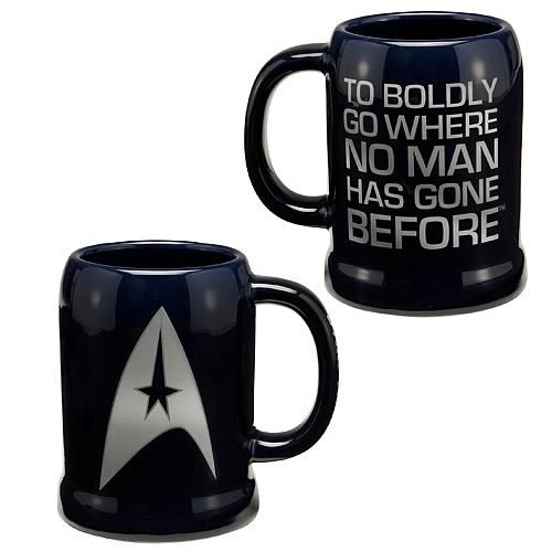 Star Trek The Original Series To Boldly Go Ceramic Stein