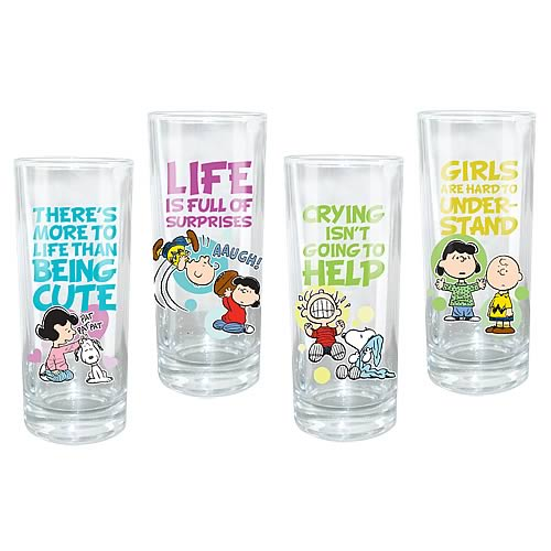 Peanuts Glasses 4-Pack