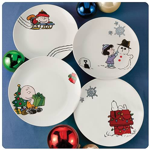 Peanuts Holiday 8-Inch Plates 4-Pack