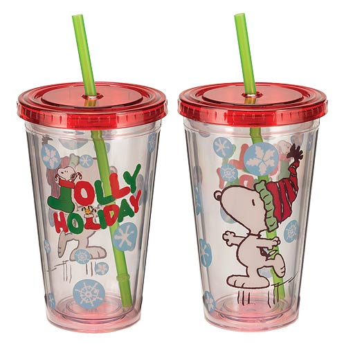 Peanuts Holiday 18 oz. Travel Acrylic Cup