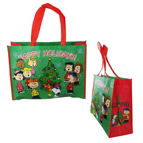 Peanuts Happy Holidays Christmas Large Shopper Tote