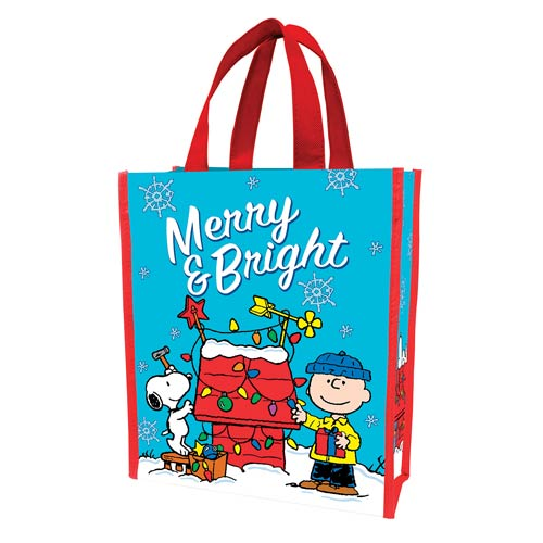 Peanuts Merry and Bright Christmas Small Shopper Tote