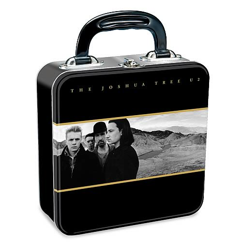 The Beatles Black And White Shaped Tin Tote