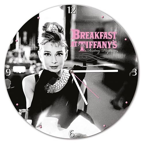 Breakfast at Tiffany's Wood Wall Clock