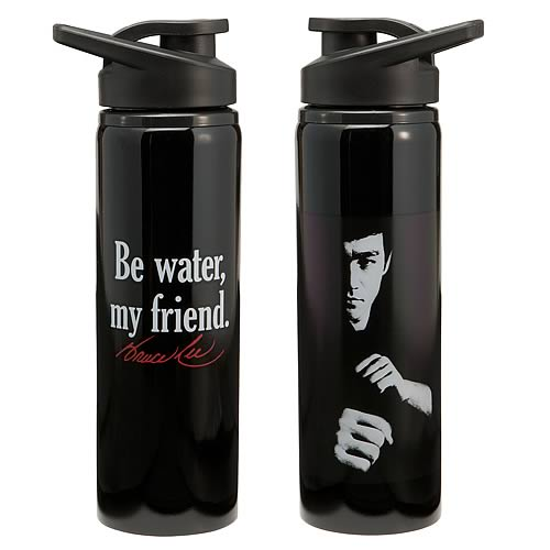 Bruce Lee Be Water My Friend Stainless Steel Water Bottle