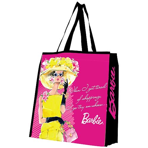 Barbie Try On Shoes Reusable Shopping Tote