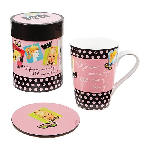 Barbie Mug and Coaster Gift Set