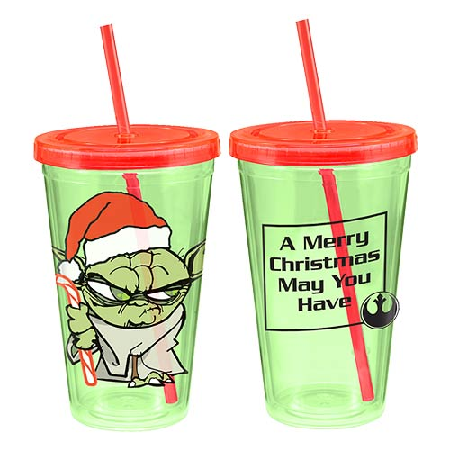 Star Wars Yoda Holiday 18 oz. Acrylic Travel Cup