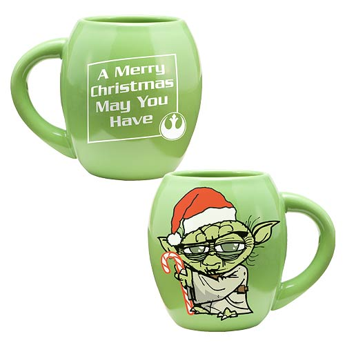 Star Wars Yoda Holiday 18 oz. Ceramic Oval Mug