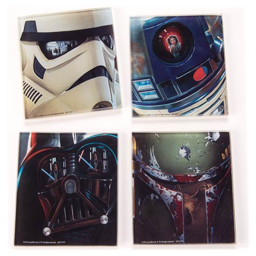 Star Wars Glass Coasters Set 4-Pack