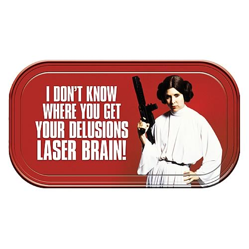 Star Wars Princess Leia Laser Brain Magnetic Mini Tin Sign