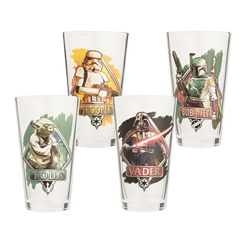 Star Wars 16 oz. Glass 4-Pack