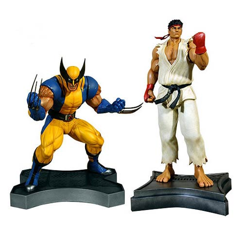 Marvel vs. Capcom 3 Wolverine vs. Ryu 1:3 Scale Statues