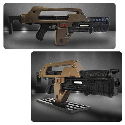Aliens M41A1 Pulse Rifle Brown Bess Weathered Prop Replica