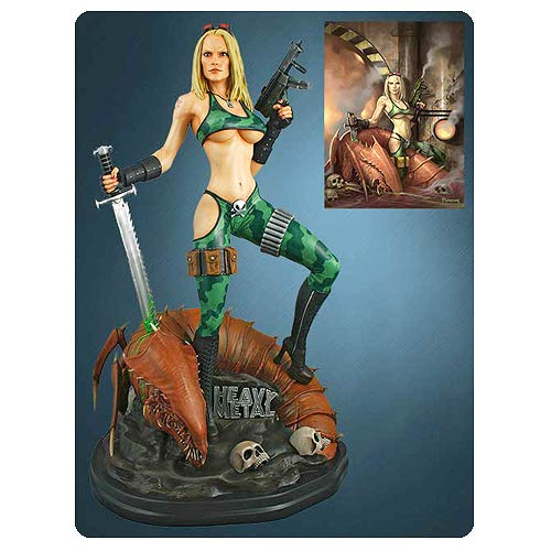 Heavy Metal Alien Marine Girl 1:4 Scale Statue